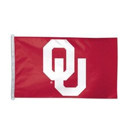 Sewing Concepts OU Crimson/White 3'x5' Applique Double-Sided Flag (AB)