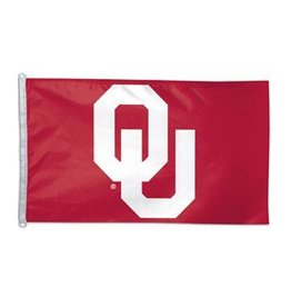 Sewing Concepts OU Crimson/White 4'x6' Applique Flag (AC)