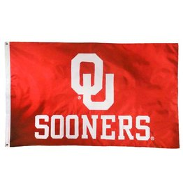 BSI OU Sooners Premium Applique Two-Sided 3'x5' Flag (C)