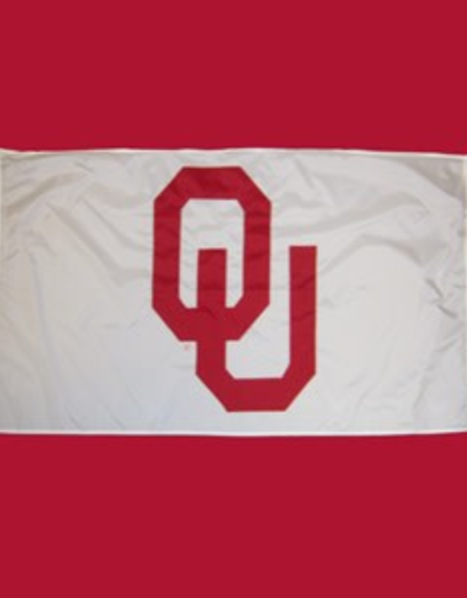 Sewing Concepts OU White 3'x5' Applique Flag (D)
