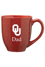 LXG Crimson Speckled OU Dad Coffee Mug