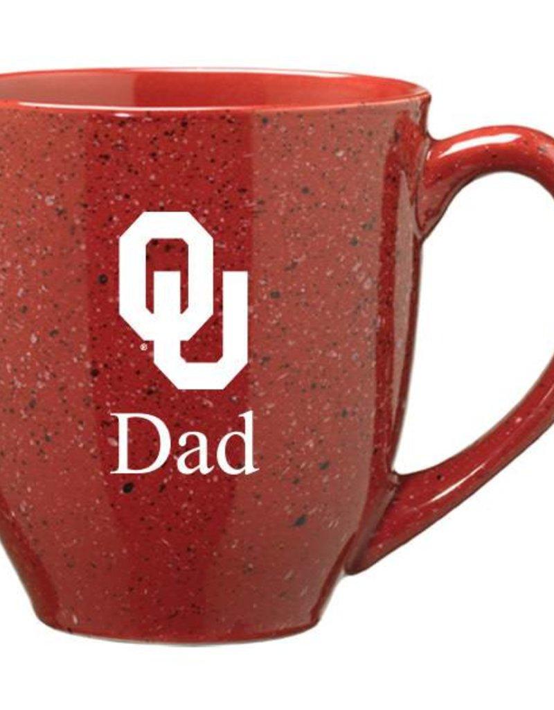 LXG Crimson Speckled OU Dad Coffee Mug