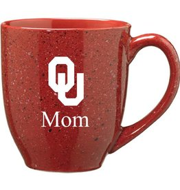 Crimson Speckled OU Mom Coffee Mug