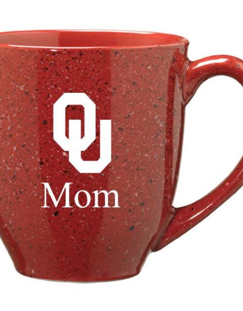 Crimson Speckled OU Mom Coffee Mug