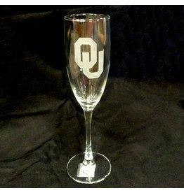 RFSJ Etched OU Champagne Flute