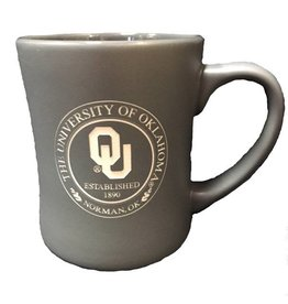 RFSJ Matte Gray Etched OU Medallion Coffee Mug