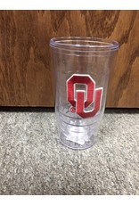 Jag OU Clear Double Wall 16oz Tumbler with Embroieder Patch Logo