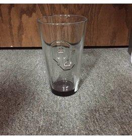 Boelter OU Debossed Inside Glass with Crimson Bottom Pint