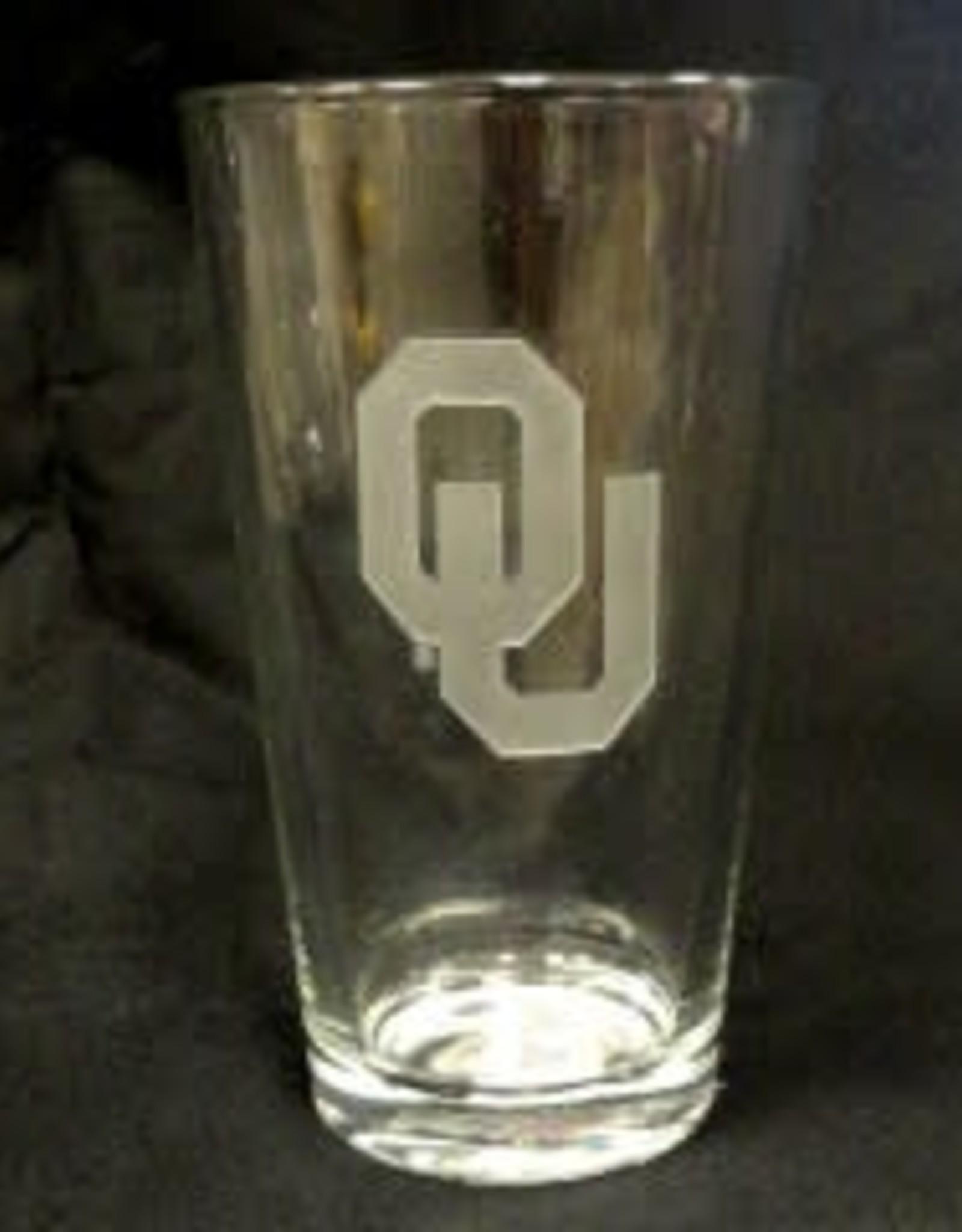 CSI OU Etched Pint Glass