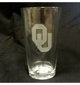 CSI OU Etched Pint Glass