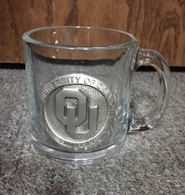 Heritage Pewter OU Pewter Emblem Glass Coffee Mug