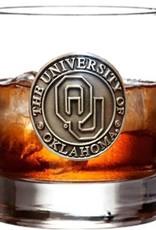 RFSJ OU Pewter Medallion 14oz Whiskey Glass