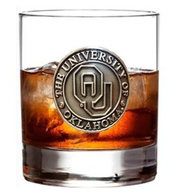 RFSJ OU Pewter Medallion 14oz Whiskey Glass