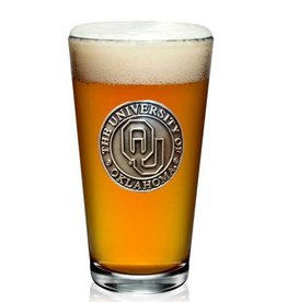 RFSJ OU Pewter Medallion Pint Glass