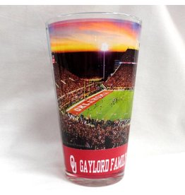 OU Stadium Pint Glass