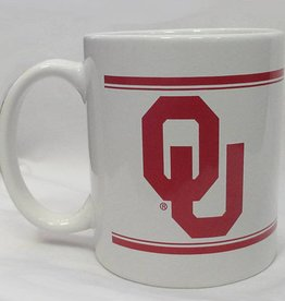 Nordic White & Crimson OU Coffee Mug