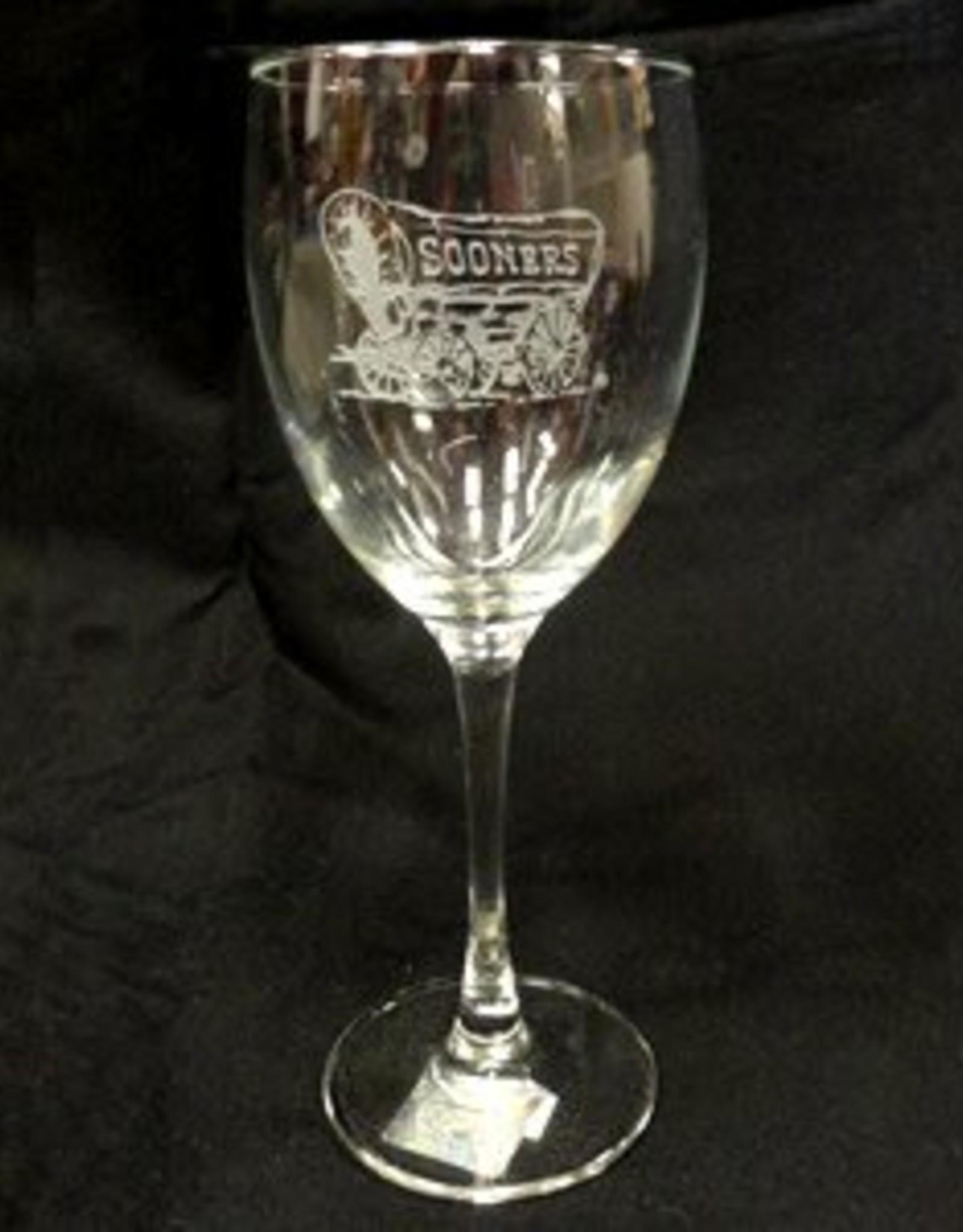 RFSJ Schooner Etched Wine Glass 12oz