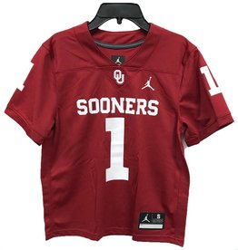 Jordan Youth Jordan Brand #1 Sooners Football Jersey