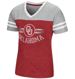 Colosseum Girls Pee Wee Football Tee OU Oklahoma