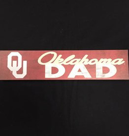 "KH Sports Fan Weathered 3""x13"" Wooden OU Oklahoma Dad Plaque"