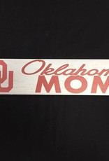 """KH Sports Fan Weathered 3""""x13"""" Wooden OU Oklahoma Mom Plaque"""