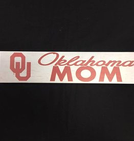 "KH Sports Fan Weathered 3""x13"" Wooden OU Oklahoma Mom Plaque"