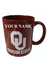 RFSJ Oklahoma Ceramic Crimson Coffee Mug with Your Name