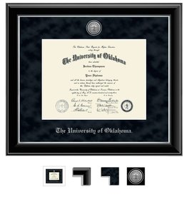 Church Hill Church Hill Engraved Onyx Silver Diploma Frame Bachelor's/Master's