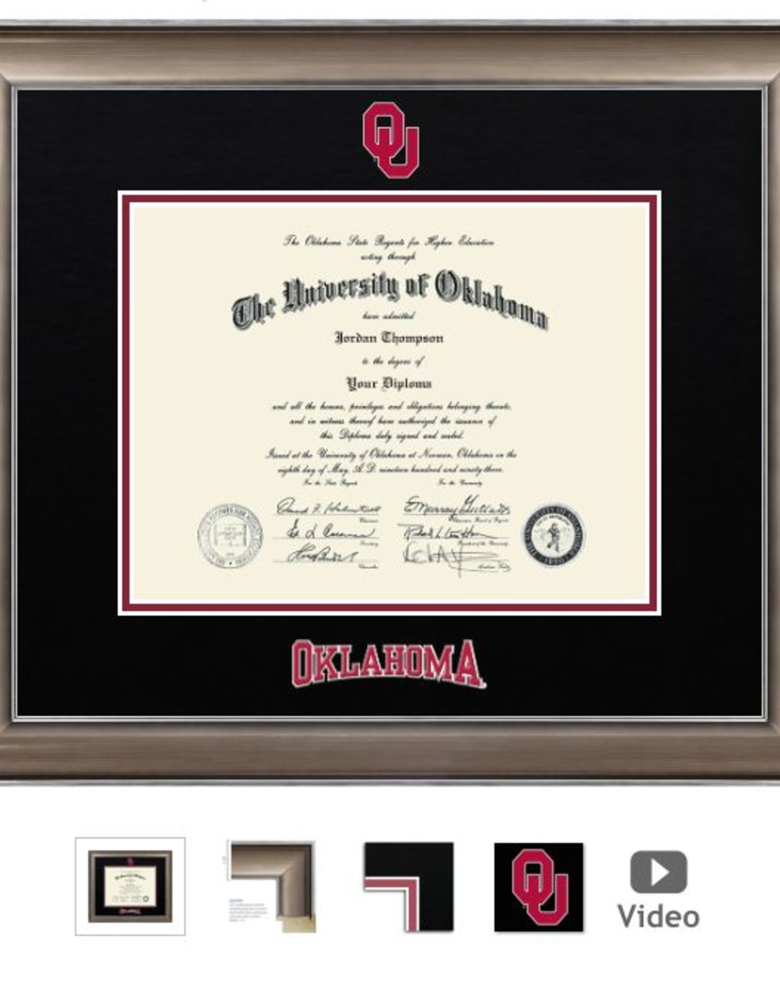 Church Hill Church Hill Dimensions Easton Diploma Frame Bachelor's/Master's