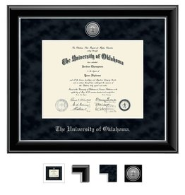 Church Hill Church Hill Engraved Onyx Silver Diploma Frame Ph.D
