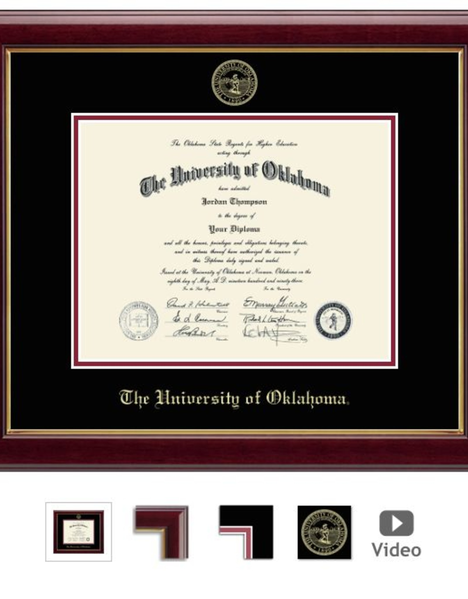 Church Hill Church Hill Embossed Gallery Diploma Frame Ph.D
