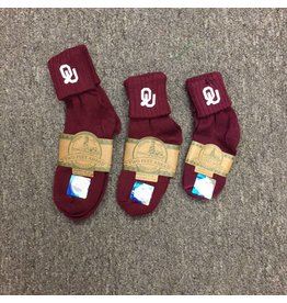 Two Feet Ahead OU Dk. Crimson Bobby Sock