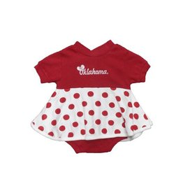 Little King Infant Little King Polka Dot Dress Creeper with Snap Closure
