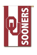 "Team Sports America Appliqued OU Sooners Embellished Two-sided Banner (28""x44"")"