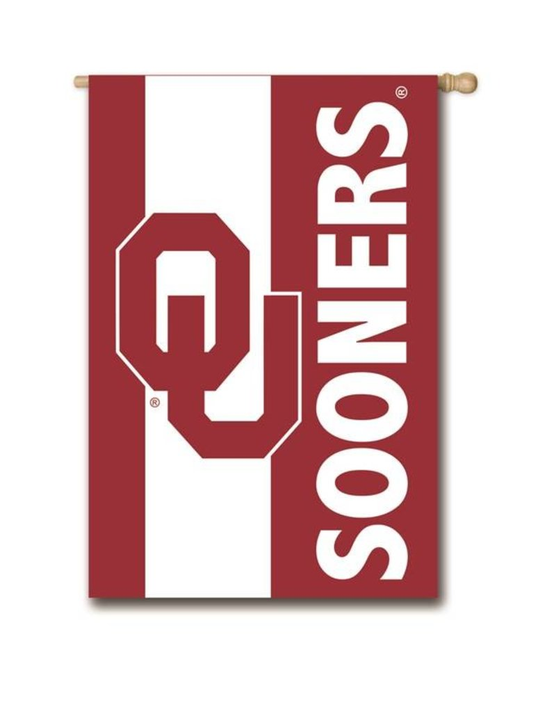 """Team Sports America Appliqued OU Sooners Embellished Two-sided Banner (28""""x44"""")"""