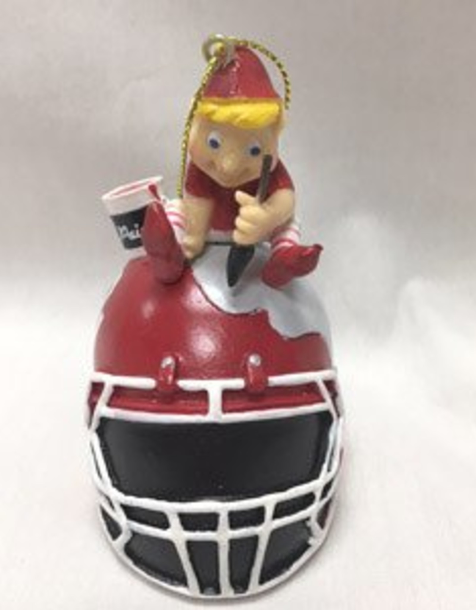 Team Sports America Elf Painting Football Helmet Resin Ornament