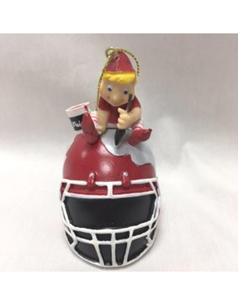 Team Sports America Elf Painting Football Helmet Resin Ornament