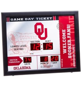 Team Sports America OU Team Scoreboard Clock with Bluetooth Wireless Technology
