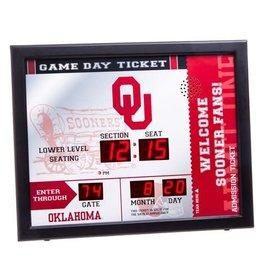 Team Sports America OU Team Scoreboard Clock with Bluetooth Wireless Technology