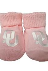 Creative Knitwear Newborn Pink OU Booties