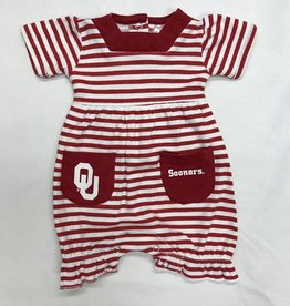 Little King Striped Infant OU Romper with Pockets