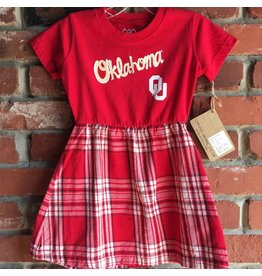 Wes & Willy Children's Wes & Willy Plaid & Crimson Dress