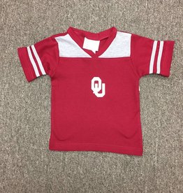 Two Feet Ahead Toddler Crimson & Grey Football Jersey Tee