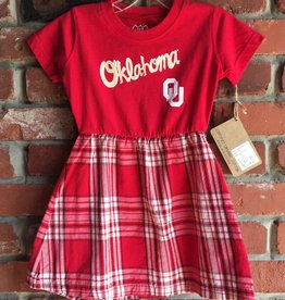 Wes & Willy Toddler Wes & Willy Plaid & Crimson Dress