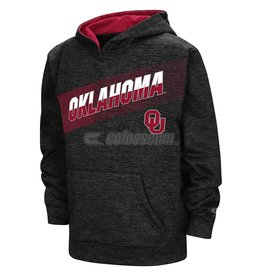 Colosseum Youth Colosseum Charcoal Oklahoma Hoody with Rubberized Print