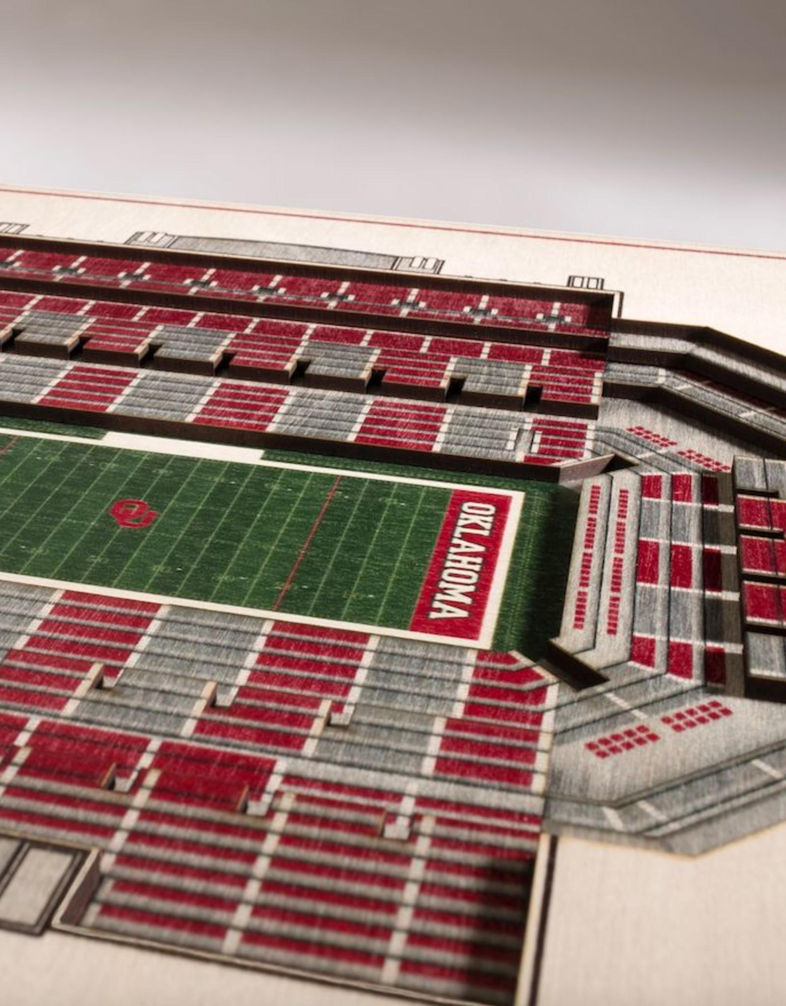 You The Fan OU 5-Layer Stadium View 3D Wall Art
