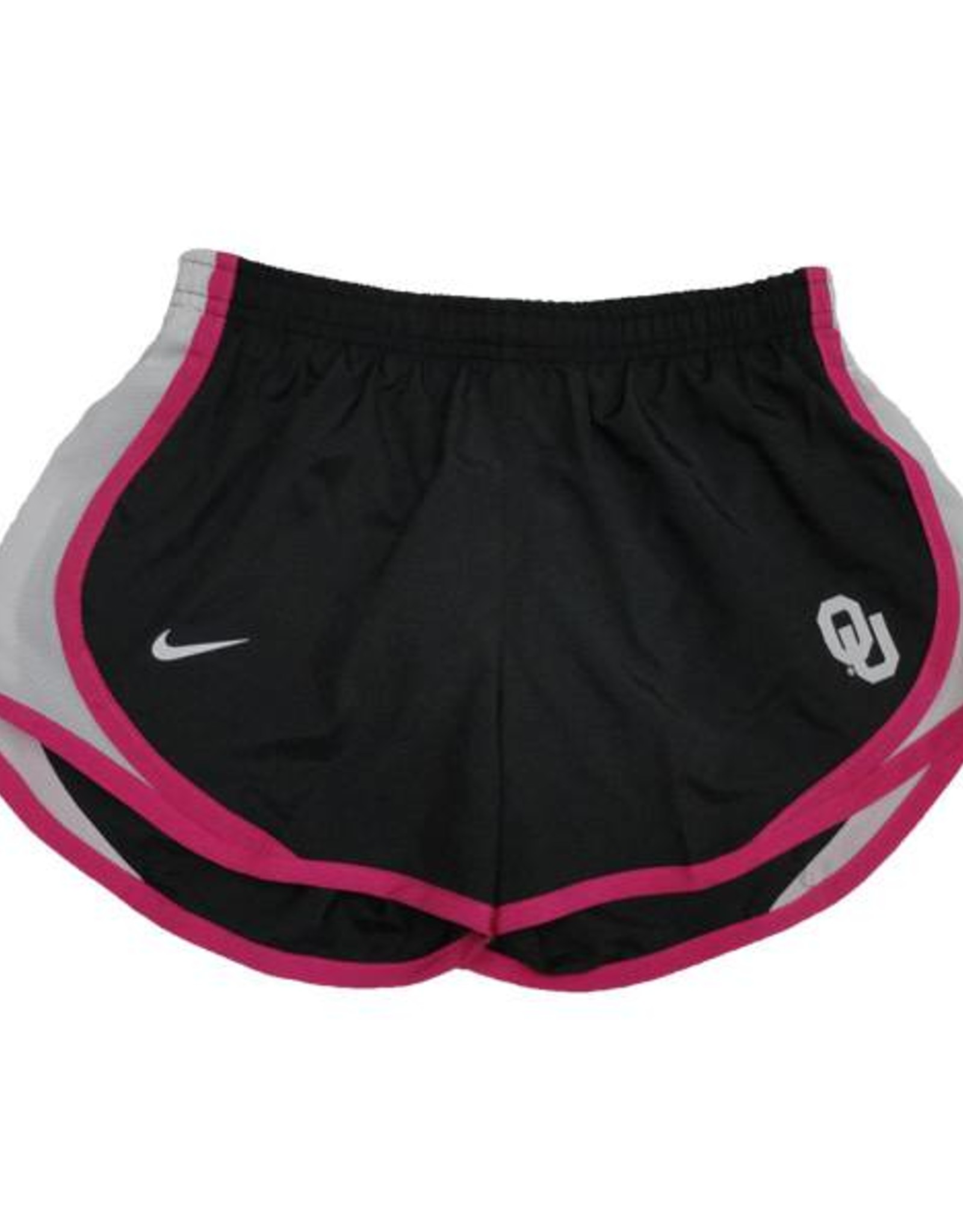 Nike Youth Nike Tempo Short Anthracite & White with Pink Trim
