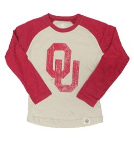 Wes & Willy Youth Wes & Willy Long Sleeve Raglan Tee Cream & Heather Crimson