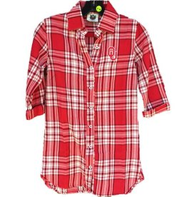Wes & Willy Youth Wes & Willy OU Plaid Button Up Shirt Dress