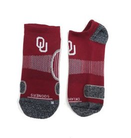 '47 Brand 47' Brand OU Crimson/Dk. Grey No Show Performance Sock Men's 9-13/Wm's 10-12
